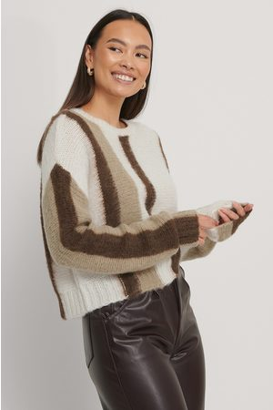 NA-KD Brushed Knitted Striped Sweater