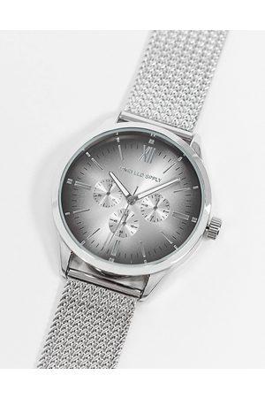 ASOS Sølvfarvet mesh-ur i rustfrit stål med sildebensmønster