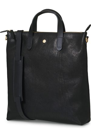 Mismo Mænd Skuldertasker - M/S Leather Shopping Bag Black