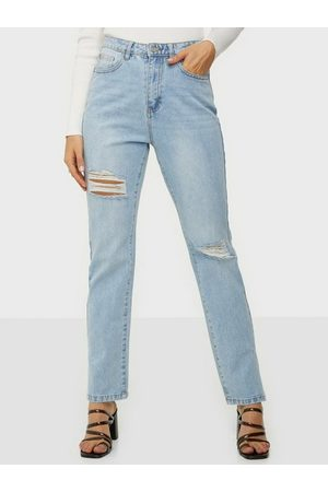 Missguided Highwaisted Straight Side Split Jeans Straight fit