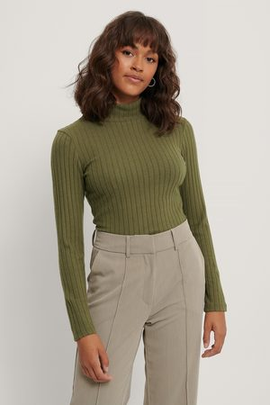 NA-KD Organic Soft Ribbed Highneck Long Sleeve