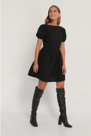 NA-KD Puff Sleeves Gathered Skirt Dress