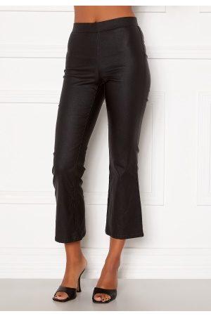 Vila Kvinder Trekvartbukser - Commit Coated HWSL Cropped Pants Black L