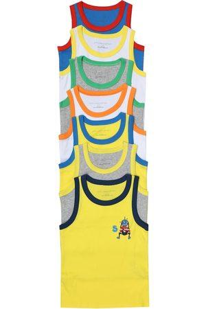 Stella McCartney Set of 7 cotton-jersey tank tops