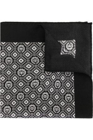 Dolce & Gabbana Lommetørklæde i silke med geometrisk mønster