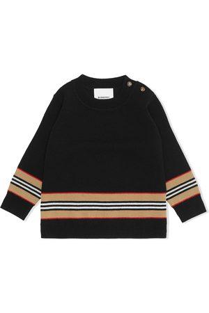 Burberry Kids Sweater i merinould med ikonisk stribe-detalje