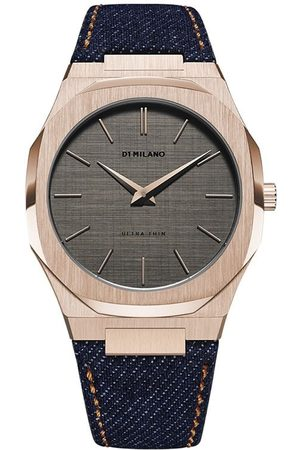 D1 MILANO Western Denim Ultra Thin 40mm armbåndsur