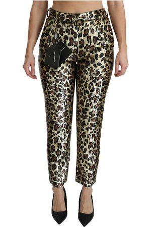 Dolce & Gabbana Leopard Sequined High Waist Pants