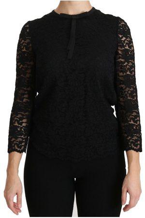 Dolce & Gabbana Lace Long Sleeve Nylon Blouse