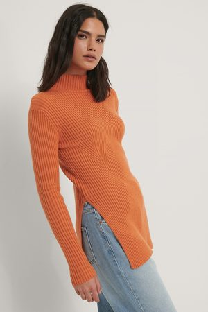 NA-KD Knitted Side Slit Sweater