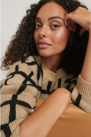 NA-KD Checked Pattern Knitted Sweater