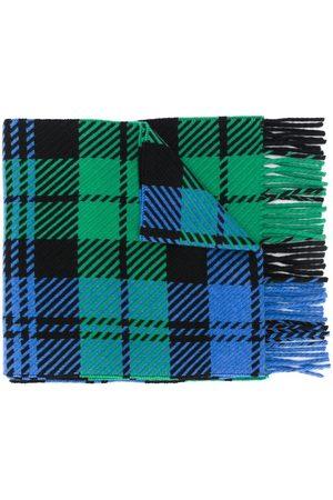 MACKINTOSH Skotskternet tørklæde med frynser