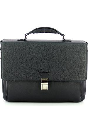 Piquadro Modus 15.0 leather expandable briefcase