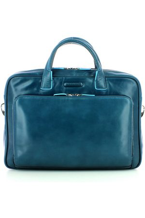 Piquadro Two handles leather briefcase