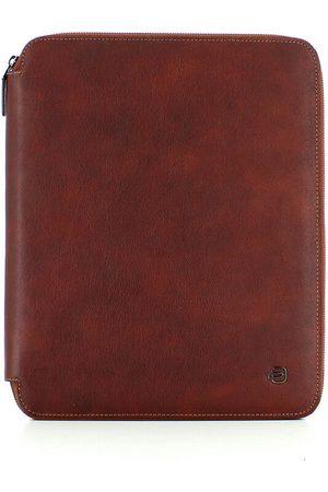 Piquadro A4 Blue Square slim notepad holder