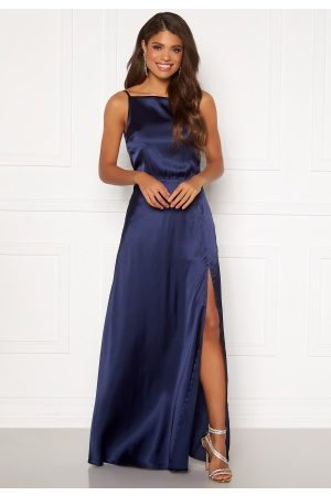 Moments New York Laylani Satin Gown Navy 36