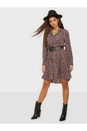 JACQUELINE DE YONG Kvinder Casual kjoler - Jdypiper L/S Aop Shirt Dress Wvn N Loose fit dresses Dark Navy