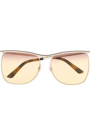 Gucci Curve bridge aviator sunglasses