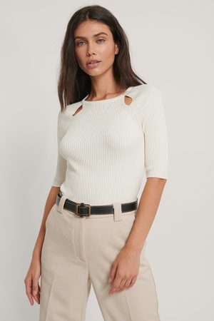 NA-KD Kvinder Toppe - Cut Out Ribbed Knitted Top