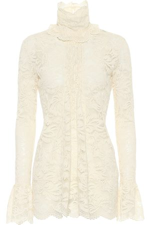 Paco rabanne High-neck lace blouse