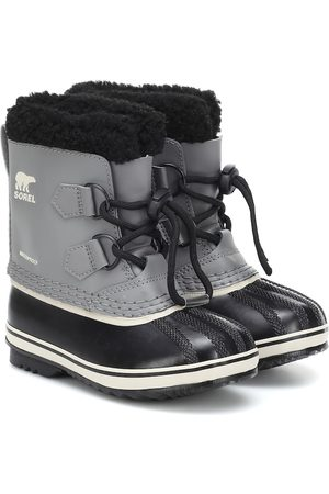 sorel Yoot Pac faux fur-trimmed leather snow boots