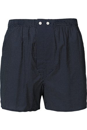 DEREK ROSE Mænd Underbukser - Classic Fit Cotton Boxer Shorts Navy Polka Dot