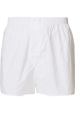 DEREK ROSE Mænd Underbukser - Classic Fit Cotton Boxer Shorts White