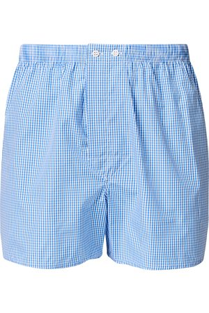 DEREK ROSE Mænd Underbukser - Classic Fit Cotton Boxer Shorts Blue Gingham