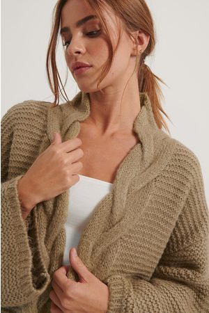 NA-KD Cable Detail Knitted Cardigan