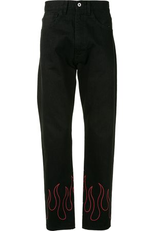 A BATHING APE® Jeans med lige ben og flammetryk