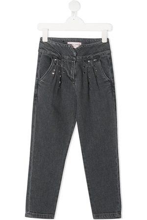Alberta Ferretti Straight - Straight leg studded jeans