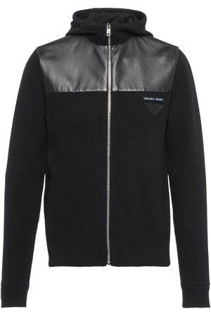 Prada Zip-up knitted hoodie