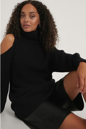 NA-KD Kvinder Strik - Cut Out High Neck Knitted Sweater