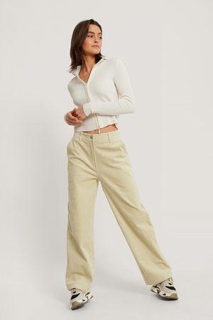 NA-KD Kvinder Trekvartbukser - Corduroy Trousers