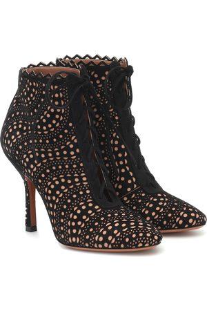 Alaïa Suede ankle boots