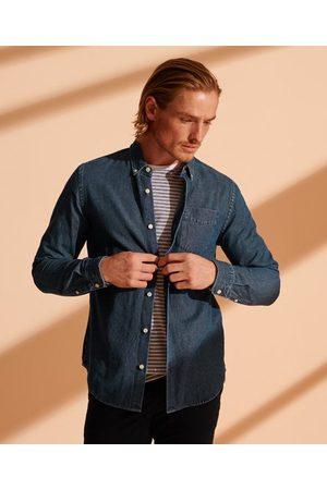 Superdry Klassisk denimskjorte med button down-krave