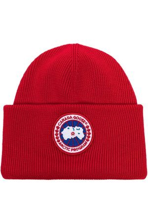 Canada Goose Red Torque wool beanie hat
