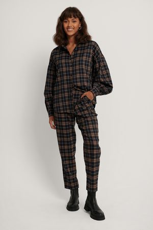 NA-KD Checkered Suit Pants