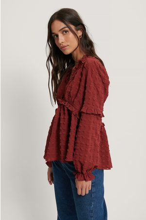 NA-KD Structured Frill Blouse