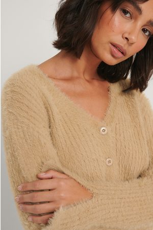 NA-KD Cropped Knitted Cardigan