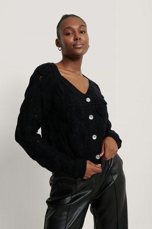 NA-KD Kvinder Cardigans - Glitter Button Cardigan
