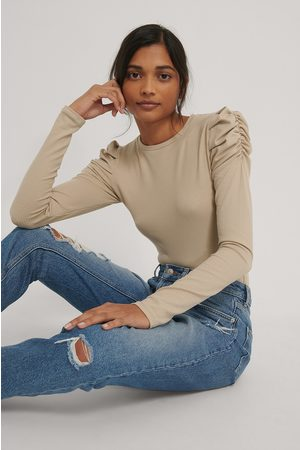 NA-KD Kvinder Toppe - Puff Detail Long Sleeve Top