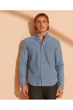 Superdry Mænd Denim - Klassisk denimskjorte med button down-krave