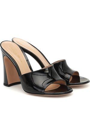 Gianvito Rossi Patent leather mules
