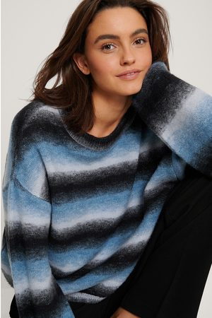 NA-KD Multi Color Balloon Sleeve Knitted Sweater