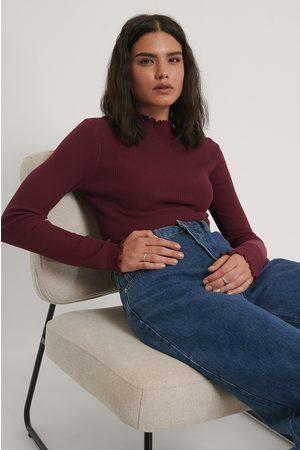 NA-KD Kvinder Strik - High Neck Babylock Knitted Sweater