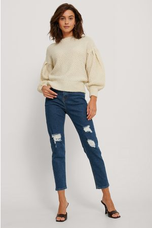 NA-KD Kvinder High waist - Destroyed Slim High Waist Jeans