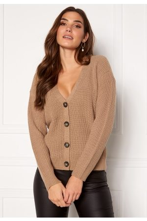 Pieces Karie LS Knit Cardigan Natural M