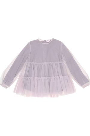 Il gufo Piger Toppe - Tulle and cotton top