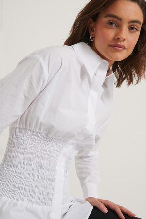 NA-KD Kvinder Casual - Oversized Smocked Shirt